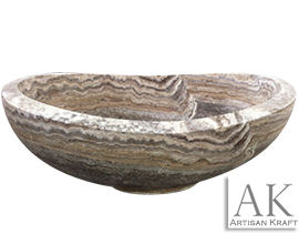 Silver Travertine Slipper Bathtub