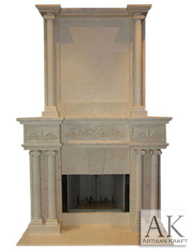 Tuscany Marble Overmantel