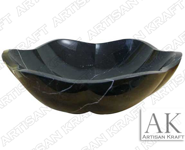 Black-Forest-Marble-Artisan bathroom marble sink