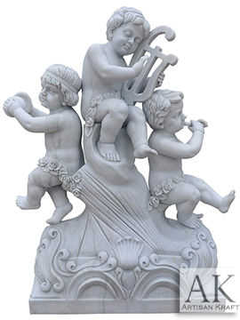 Angel Cherubim Playing Instruments Statue