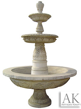 Tiered Marble Fountain