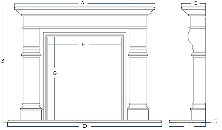 Standard Fireplace Mantel Height Ideas