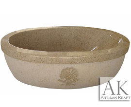 Beige Granite Double Ended Oval Tub