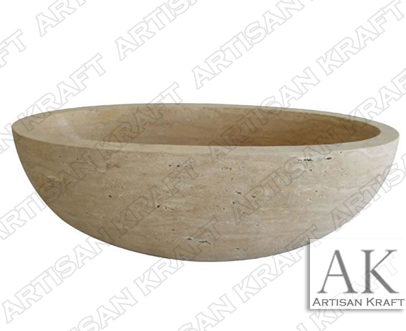 Travertine Oval Freestanding Tub bowl bathtubs