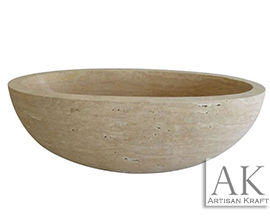 Travertine Oval Freestanding Tub