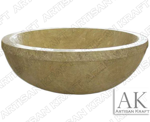 Travertine Round Tub bowl bathtubs