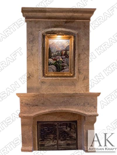 Huston-Travertine-Overmantel-Fireplace