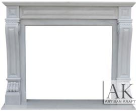 Italian Regal Marble Mantel