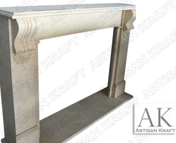 Carlisle Corbel Marble Mantel Fireplace surround
