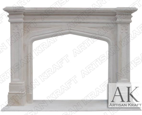 gothic-tudor-limestone-fireplace surround