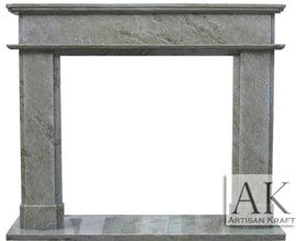 Modern Fireplace Marble Green