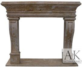 Leon Travertine Fireplace Mantel Surround