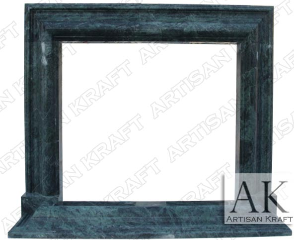 Modern Green Marble Bolection Mantel