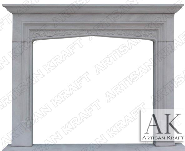 tudor-white-sandstone- Fireplace English