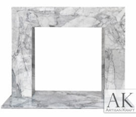 Contemporary Carrara Marble Fireplace