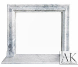 Modern Bolection Carrara Mantel